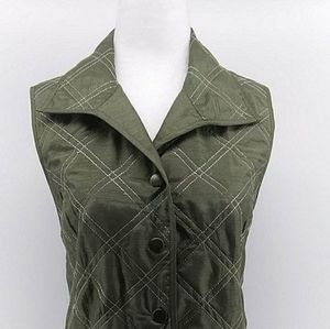 Chico's NWT olive green women's vest